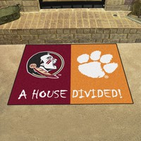 "Florida State - Clemson Divided Rug 33.75""x42.5"""