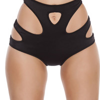 High-Waisted Shorts with Cut out Details Clubwear