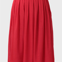 Southern Blossom Skirt In Red