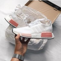 Tagre™ Adidas NMD Fashion Sneakers Trending Running Sports Shoes White-pink