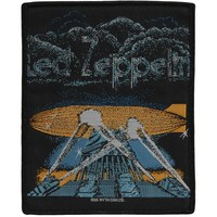 Led Zeppelin Men's Logo 2 Woven Patch Black