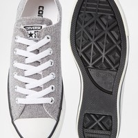 Converse Sparkle Grey Knit Chuck Taylor Low Top Trainers