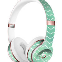 Green Watercolor Chevron Full-Body Skin Kit for the Beats by Dre Solo 3 Wireless Headphones