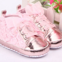 Baby Kid Girl Toddler Non-slip Soft Sole Crib Sneaker Shoes Prewalker Boots = 1946985412