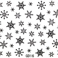 GGSELL Popular 3D nail art nail stickers nail decals glitter snow flowers