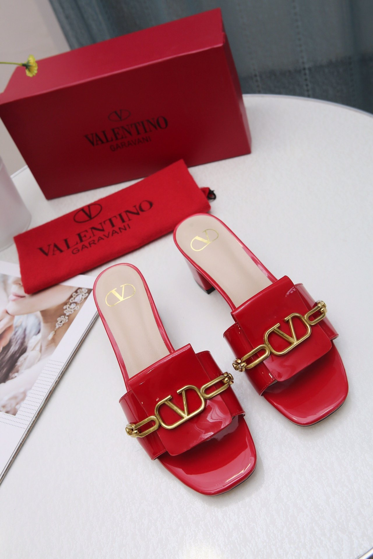 Image of Valentino Women Casual Shoes Boots fashionable casual leather Women Heels Sandal Shoes