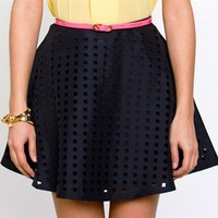 Finders Keepers Beyond the Call Skirt- Cutout Skirt- $105