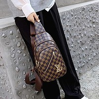 Louis Vuitton LV zipper belt bag mobile phone bag fashion men and women shoulder messenger bag