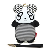 Big round panda smartphone kisslock sleeve