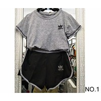ADIDAS summer sports suit short sleeve shorts casual two-piece suit NO.1