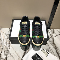 Gucci Men's Leather Fashion Rhyton Sneakers Shoes