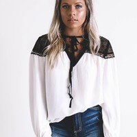 There She Goes Ivory Raglan Blouse