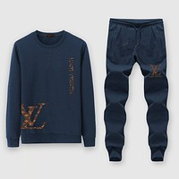 Louis Vuitton Fashion Casual Top Sweater Pullover Pants Trousers Set Two-Piece