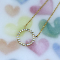 pretty neat Circle Necklace/ Elegant Design for expression your Classy