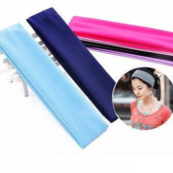 Sports Gym Stretchy Headband Stretch Cotton Hairband For Yoga Running