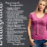 Bridesmaid T-shirt | Gift for Bridesmaid