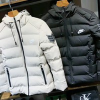 NIKE Fashion The North Of Boys Men Warm Stand Slim Winter Zip Good Quality Coat Long Sleeve Outwear Down Jacket G-G-JGYF
