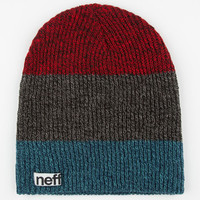 Neff Trio Heather Beanie Red Combo One Size For Men 24587334901