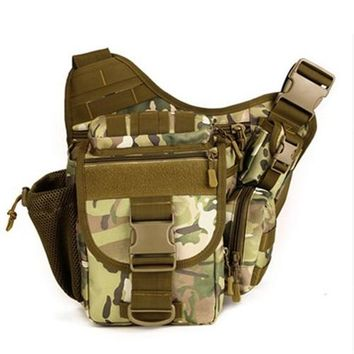 DSLR Tactical Camouflage Camera Pack Women Messenger Bag Men Outdoor Sport Bags Waterproof Nylon Saddle Bag Free Shipping D029