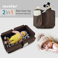 High-capacity Travel Mommy Bag Multifunctional 2 in 1 Baby Sleeping Bag Diaper Bag Package = 1845640516