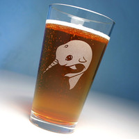 1 Narwhal Pint Glass - cutest unicorn of the sea