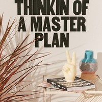 Thinking Of A Master Plan Wall Decal   Urban Outfitters