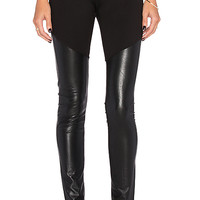 Francisco Faux Leather Legging in Black