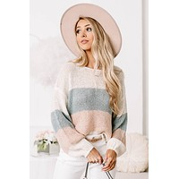 Taking Chances Color Block Sweater