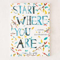 Start Where You Are: A Journal For Self-Exploration By Meera Lee Patel   Urban Outfitters