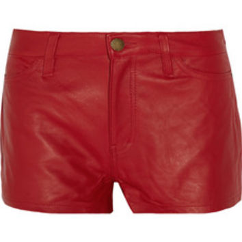 Current/Elliott + Charlotte Gainsbourg The Short leather shorts – 70% at THE OUTNET.COM