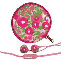 Lilly Pulitzer Earbuds and Pouch - Garden By The Sea