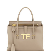 Tom Ford TF Icon Satchel Bag, Taupe