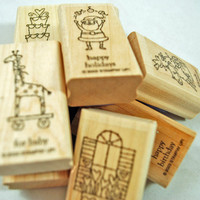 "Stampin Up Rubber Stamps ""Little Hellos"" 2003 Retired Rubber Stamps Nearly New Retired HTF Scrapbooking Cardmaking Collage Crafts"