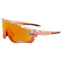 Oakley Jawbreaker Sunglasses OO9290-3731 Crystal Pop | Fire Iridium Lens | BNIB