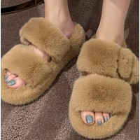 New fashion home slippery slip-heel thick-soled lazy cotton slippers shoes