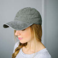 Mineral Wash Cap - Olive   Called To Surf