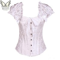 steel boned corset  steampunk corset  top waist trainer corsets gothic clothing sexy lingerie corselet corsets and bustiers
