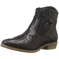 Volatile Womens Gracelyn Faux Leather Ankle Cowboy, Western Boots
