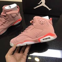 [Free Shipping] Air Jordan 6 Winter Pink Basketball Sneaker
