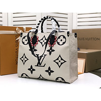 LV Louis Vuitton MONOGRAM LEATHER ONTHEGO HANDBAG TOTE BAG