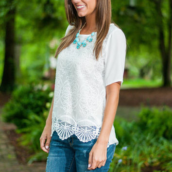 Shell For You Top, White
