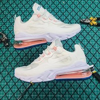 Nike Air Max 270 React White Running Shoes - Best Online Sale