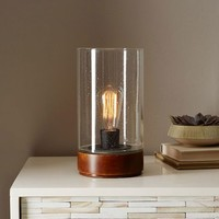 Bubble Glass Cylinder Table Lamp