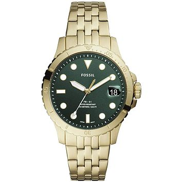 Fossil Women's FB-01 Stainless Steel Dive-Inspired Casual Quartz Watch