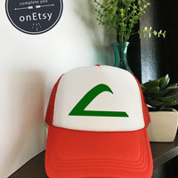 Pokemon Hats Ash Ketchum Cosplay Pokémon Go Hats Trucker Hat