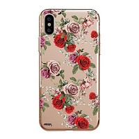 Watercolor Floral Pattern - Clear TPU - iPhone Case