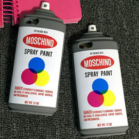 Spray Paint Bottle iPhone Case - Silicon
