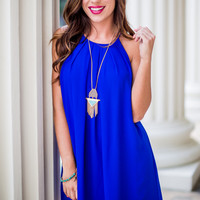 GRADUATION: Number 10 Day Dress in Blue