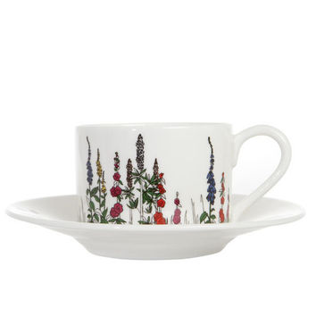 Cottage Garden Ceramic Tea Cup and Saucer, Tea With Bea. Shop more from the Tea With Bea collection online at Liberty.co.uk