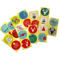 Variety Christmas Stickers for Holidays - Set of 50 Sticker Labels